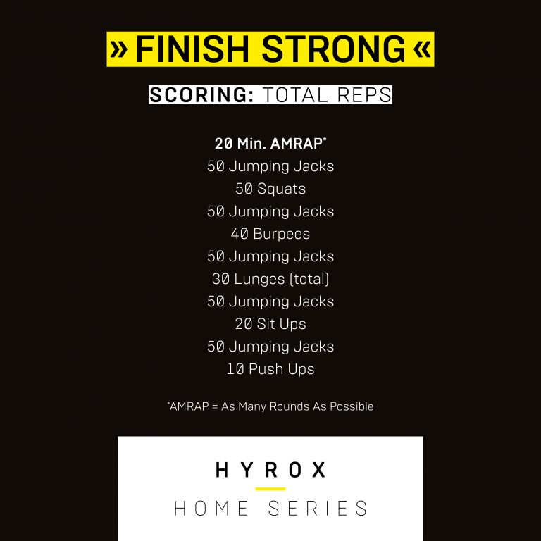 HYROX Home Series Workout #5